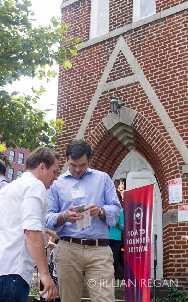 Tom Tom Festival Octoberfest Guys on Phones