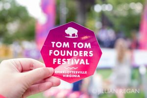 Tom Tom Founders Festival Sticker Blurred Background