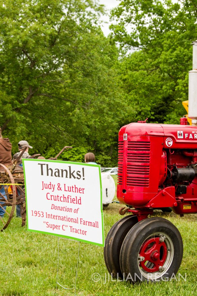 Fluvanna Old Farm Day Sponsorship Donor Sign Tractor